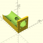 """Motor mount for Andymark PG motor and gearbox that drops into a 2"""" U-channel."""