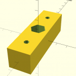 """Support for a 1/2"""" hex shaft through a 1"""" x 1/16"""" wall aluminum tubing."""